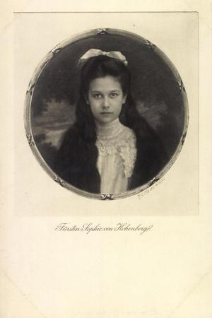 Fürstin Sophie Von Hohenberg, Portrait, Schleife