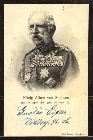 Künstler König Albert Von Sachsen, Todesdatum 1902