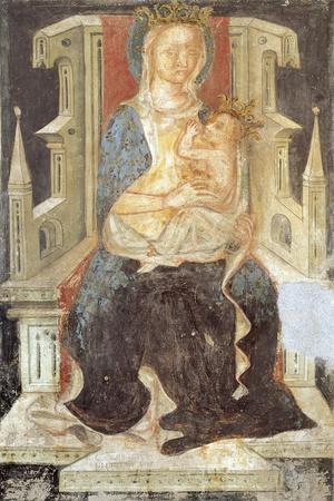Madonna and Child, the Crypt of Saint Columban's Abbey, Bobbio, Emilia-Romagna, Italy