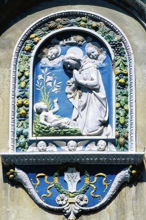 Madonna and Child, Painted Majolica, Asolo, Veneto, Italy