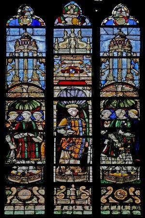 Window W12 Depicting Seven Deacons Including Antoine De Crevant