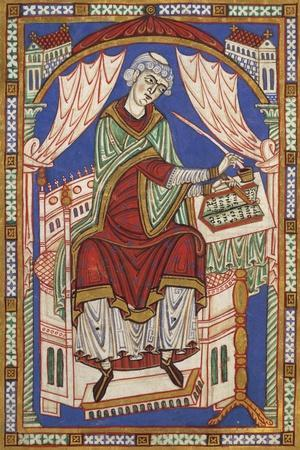 Portrait of the Author Baudemondo, Miniature from Life and Miracles of Saint Amand