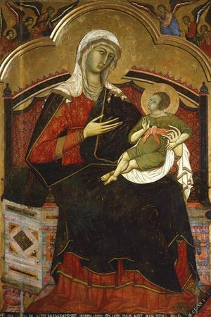 Enthroned Madonna and Child, 13th Century by an Unknown Italian Artist