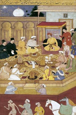 Emperor Akbar Conversing with Jesuit Missionaries