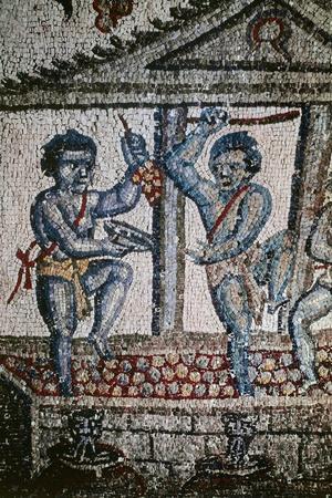 Cupids Treading Grapes, Mosaic Detail from Vault of Ambulatory