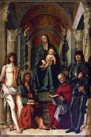 Madonna Enthroned with Saints, 1492