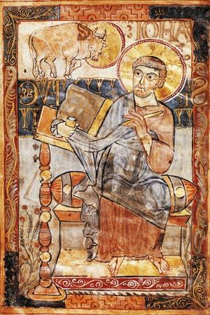 Saint Luke, Miniature from the Godescalco Gospels, Germany 8th Century