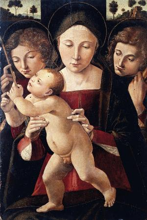 Italy, Asissi, Madonna and Child with Two Angels, 1495-1500