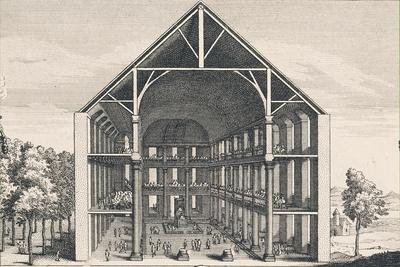 Internal Section of Temple of Charenton, France, 1685