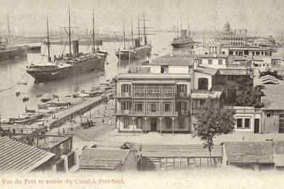 View of the Port and the Entrance to the Suez Canal, Port Said, Egypt
