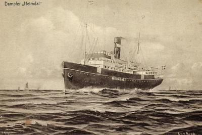 Künstler Svea Johnson Line, Dampfschiff Heimdal