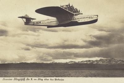 Dornier Do X Flying Boat in Flight over Lake Constance, Germany