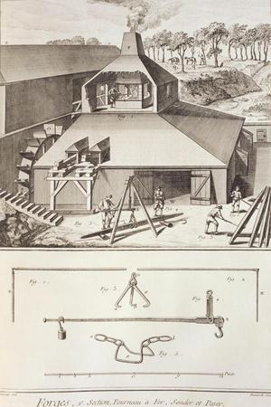 Plate Showing Forge and Measuring Instruments from Denis Diderot, Jean Baptiste Le Rond D'Alembert