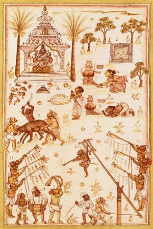 Sacred Ceremony, Miniature, India 17th Century