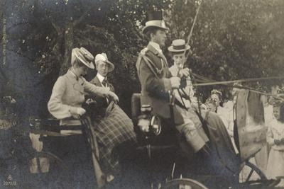 Kronprinz Friedrich Wilhelm Mit Frau in Kutsche