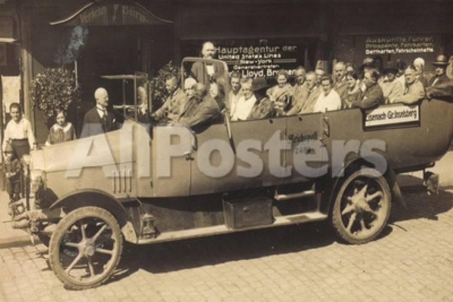 Foto Eisenach, Blick Auf Reichspostauto, Usl Agentur Giclee Print at ...