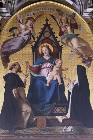 Madonna and Child with Saints in Cathedral of Alba, Italy, 15th-16th Century