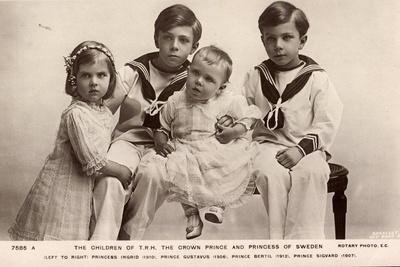 Prinzessin Ingrid,Prinzen Gustav, Bertil Und Sigvard