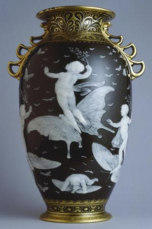 Black and Gold Vase, Pate-Sur-Pate Series