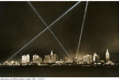 Light Beams and the Miami Skyline at Night, 1926