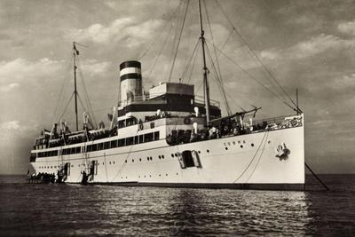 Hapag, Seebäderdienst, Dampfschiff Cobra Vor Anker
