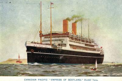 Canadian Pacific Ships, Empress of Scotland, Steamer