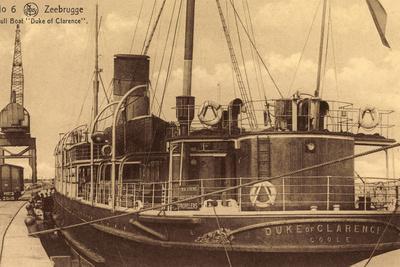 Zeebrugge, Hull Boat Duke of Clarence, Hafenkran