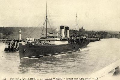 Boulogne Sur Mer, Paquebot Invicta, Dampfschiff