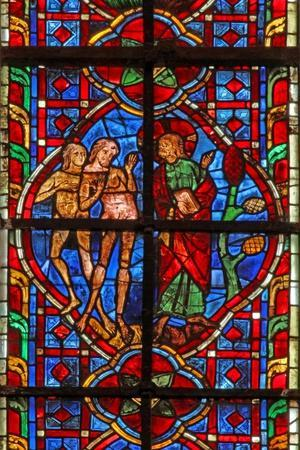 Window W207 Depicting Adam Told Not to Eat from the Tree of Knowledge