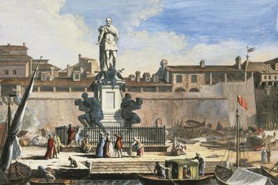 View of Livorno: Quattro Mori Monument