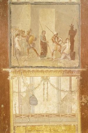 Fresco Depicting Meeting of Priam, Menelaus and Helen and Arisace Chasing Cassandra
