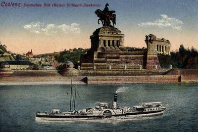 Koblenz Rhein, Deutsches Eck, Kaiser Wilhelm Denkmal