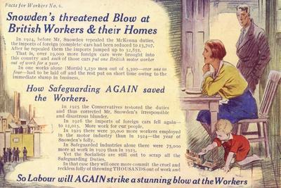 Anti-Labour Party Postcard