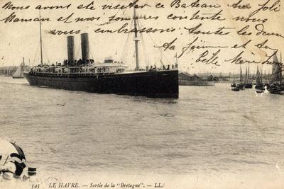Le Havre, Sortie De La Bretagne, Sgtm, Dampfer