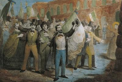 The Resurgence - Patriotic Demonstration in Florence, 1847