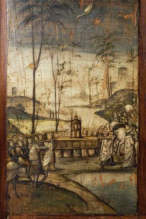 Italy, Milan, Church of St Mary the Gracious, Old Sacristy, Crossing the Jordan River with the Ark
