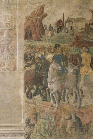 Group of Knights, Scene from Month of July, Fresco, North Wall, Hall of Months, Palazzo Schifanoia