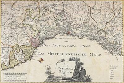 Republic of Genoa, from German Atlas