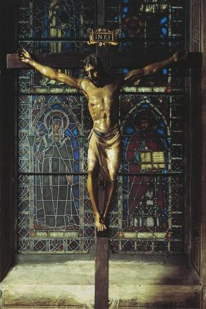 Italy, Florence, Church of Santa Croce, Crucifix, 1406-1408