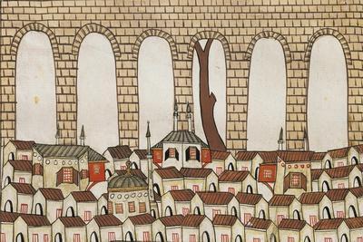 Algeria, Sidi-Fredji, Roman Aqueduct in Sidi-Fredji Gorge from Vivant Denon's Album, 1798