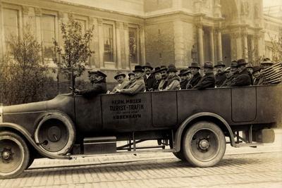 Foto Dänemark, Sächs. Bauern, Mai 1926, Reisebus