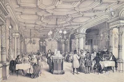 France, Paris, Three Provencal Brothers Restaurant, 1840