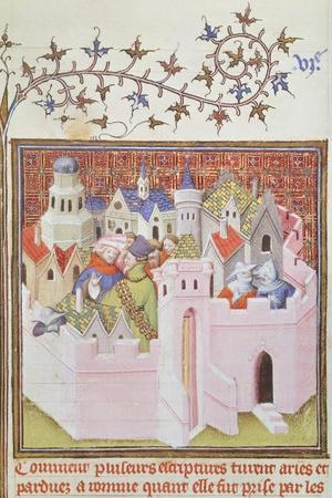 Medieval City, Miniature from the History of Tito Livio