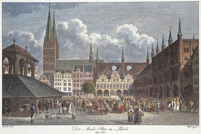 Germany, Lubeck, Marktplatz