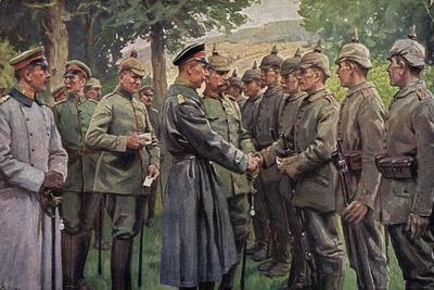 Künstler Roloff, A., Kronprinz Ernst August,Soldaten