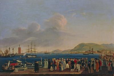 The Departure of the Duke and the Duchess of Calabria with the Royal Family from Palermo to Naples