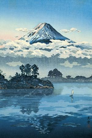 Lake Kawaguchi at the Foot of the Fuji by Eisho and Kikugawa Koitsu