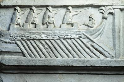 Italy, Rome, Roman Warship, Cast from the Original Work Situated in the Jordans' Cemetery in Rome
