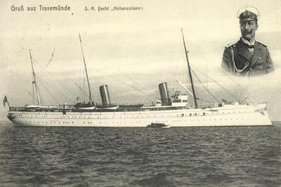 Travemünde,S.M. Yacht Hohenzollern, Kaiser Wilhelm II