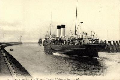 Boulogne Sur Mer, Fährschiff L'Onward, Abfahrt